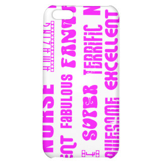 Cool Pink Modern Design 4 Nurses Positive Words iPhone 5C Case