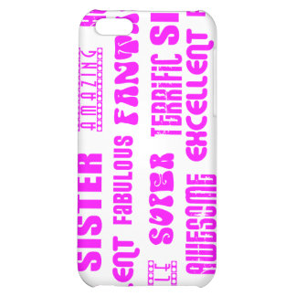 Cool Pink Modern Design 4 Sisters Positives Words iPhone 5C Cover
