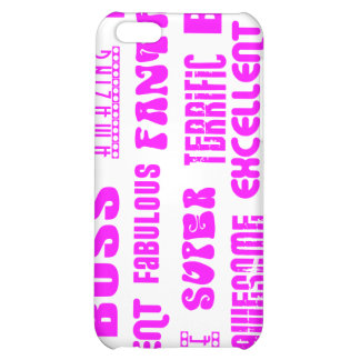 Cool Pink Modern Design for Bosses Positive Words iPhone 5C Covers
