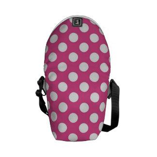 Cool Pink Polka Dot Pattern Messenger Bag