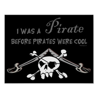 Cool Pirate Poster