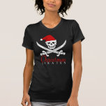Cool Pirates Christmas Skull Shirt for Girls