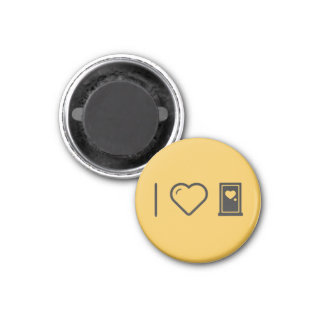 Cool Plastic Doors 3 Cm Round Magnet