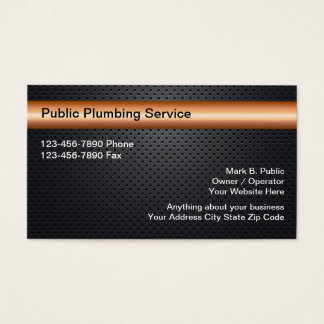 Cool Plumbing Business Cards