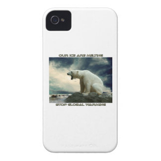 cool POLAR BEAR AND GLOBAL WARMING designs iPhone 4 Case-Mate Cases