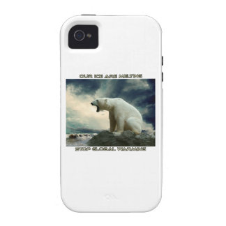 cool POLAR BEAR AND GLOBAL WARMING designs Vibe iPhone 4 Cases