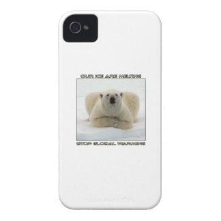 cool POLAR BEAR AND GLOBAL WARMING designs Case-Mate iPhone 4 Cases