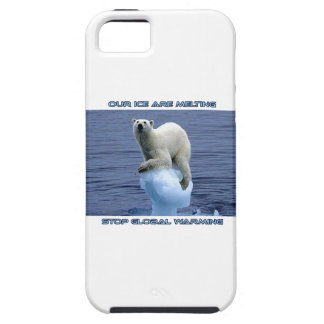 cool POLAR BEAR AND GLOBAL WARMING designs iPhone 5 Cases