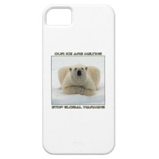 cool POLAR BEAR AND GLOBAL WARMING designs iPhone 5 Cover