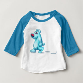 Cool polar bear cartoon baby shirt