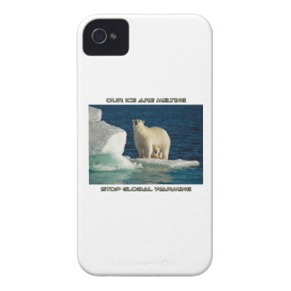 cool Polar Bears against GLOBAL WARMING designs iPhone 4 Covers