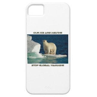 cool Polar Bears against GLOBAL WARMING designs iPhone 5 Case