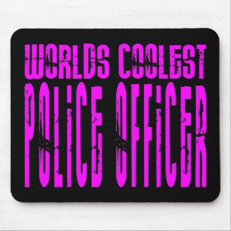 Cool Police Girl : Worlds Coolest Police Officer Mouse Mat