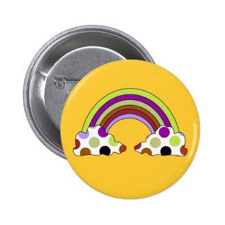 Cool Polka Dot Rainbow Button
