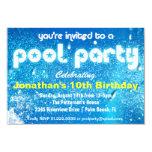 "Cool Pool Party Invitation 3.5"" X 5"" Invitation Card"