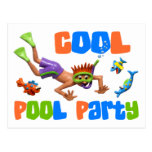 Cool Pool Party Post Card