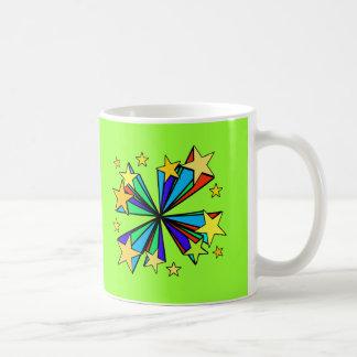 Cool Pop Art Stars Design Basic White Mug