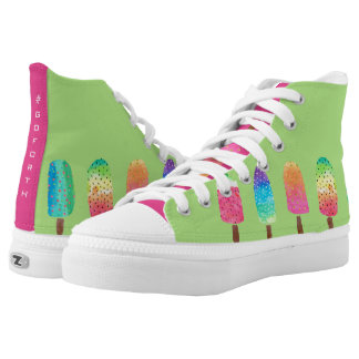 Cool Popsicles Bright Green High Tops