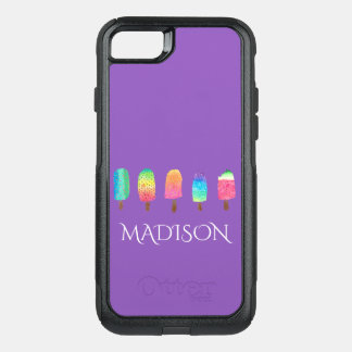 Cool Popsicles Trendy Purple Custom School OtterBox Commuter iPhone 8/7 Case
