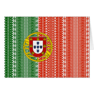 Cool Portugal Aztec flag Stylish pattern Card