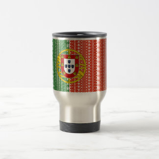 Cool Portugal Aztec flag Stylish pattern Travel Mug