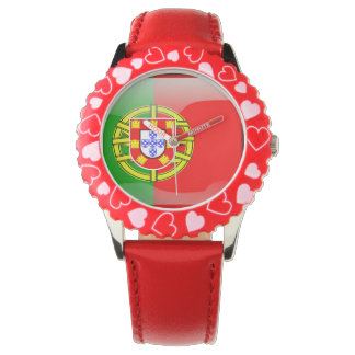 Cool Portugal Flag colourful Country Nationality Watch