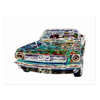 cool postcard of car