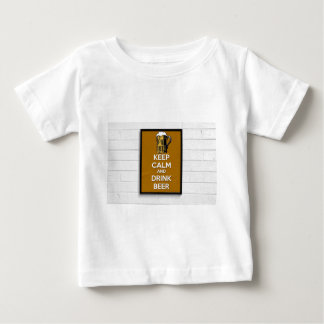 Cool poster, Keep calm and have a beer! Baby T-Shirt