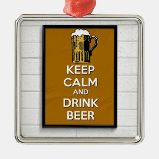 Cool poster, Keep calm and have a beer! Christmas Ornament