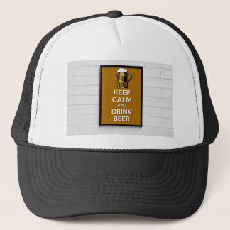 Cool poster, Keep calm and have a beer! Trucker Hat