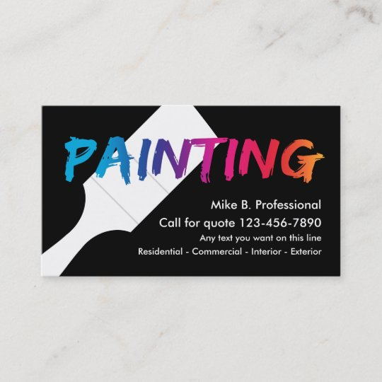 Cool professional painter business card zazzle cool professional painter business card colourmoves