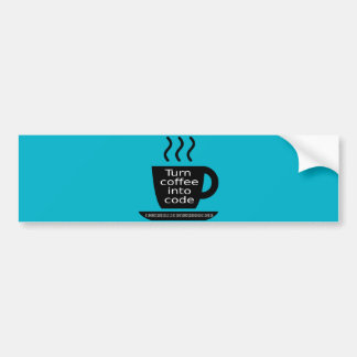 Cool Programmer Geek Coffee Addiction Bumper Sticker