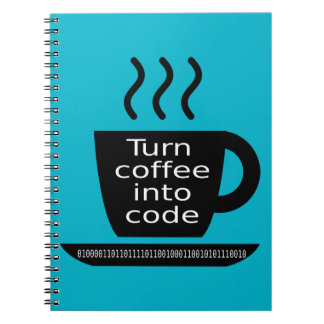 Cool Programmer Geek Coffee Addiction Note Book