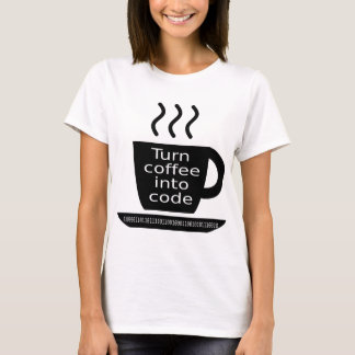 Cool Programmer Geek Coffee Addiction T-Shirt