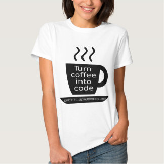 Cool Programmer Geek Coffee Addiction T-shirts
