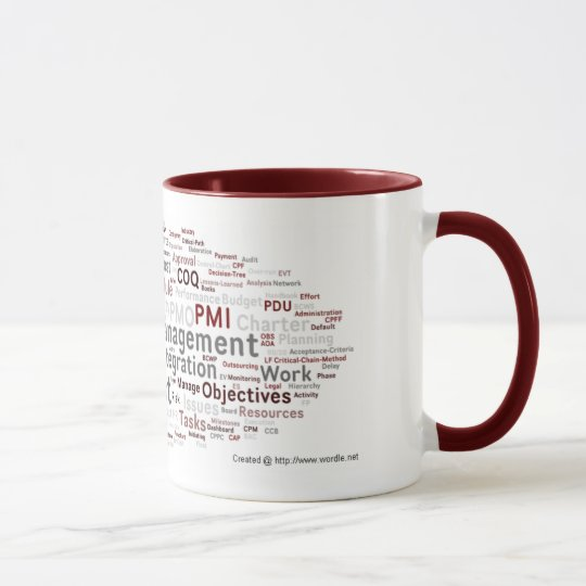 Cool Project Manager PMP Tag Cloud Mug