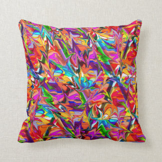 Cool psychedelic trippy colorful throw pillow