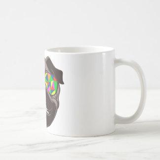 Cool Pug with Psychedelic Sunglasses Coffee Mug