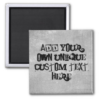 Cool Punk Look Custom 'Add your own text' Magnet