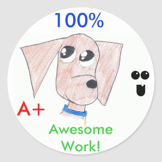 "Cool Puppy ""Awesome Work"" stickers"