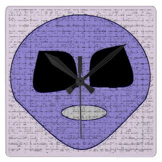 Cool Purple Alien Wall Clock