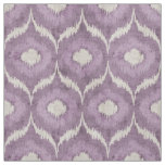 Cool purple and cream ikat tribal pattern fabric