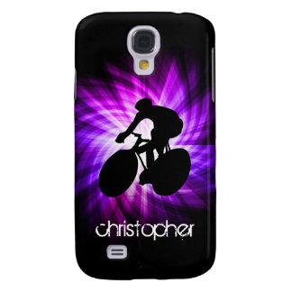 Cool Purple Cycling Galaxy S4 Case