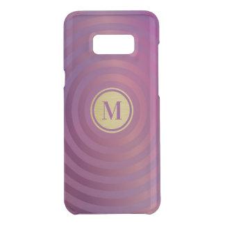 Cool Purple Designer Stripe Pattern Gold Monogram Uncommon Samsung Galaxy S8 Plus Case