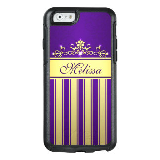 Cool Purple Gold Vintage OtterBox iPhone 6/6s Case