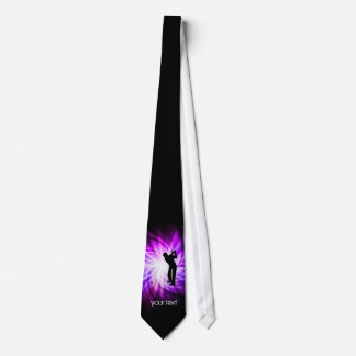 Cool Purple Golf Tie