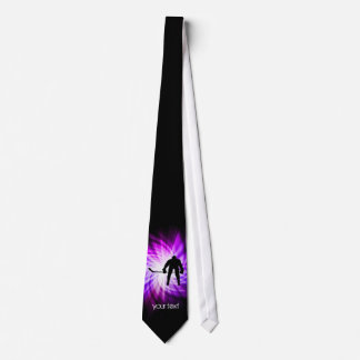 Cool Purple Hockey Tie