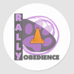 Cool Purple Rally Obedience Round Sticker