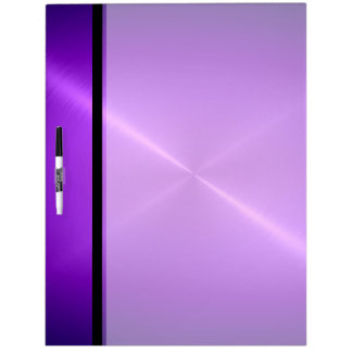 Cool Purple Shiny Stainless Steel Metal Dry Erase Board
