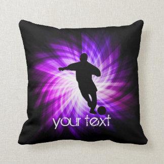 Cool Purple Soccer Cushion